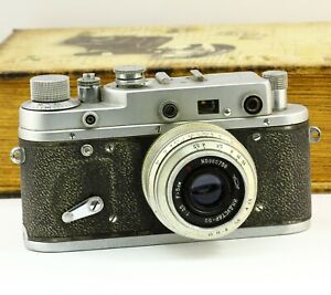 Zorki-2C 2S Soviet rangefinder copy Leica film camera vintage Industar 50 lens