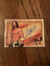 2020 Wrestlemania AJ Styles Auto /99