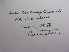 ENVOI AUTOGRAPHE / JOURS D'OMBRE ET DE LUMIÈRE  C.Michael-Titus