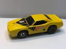 Hot Wheels Mattel 1969 Sizzlers - Cuda TransAm Yellow w/ Redlines Tires #5