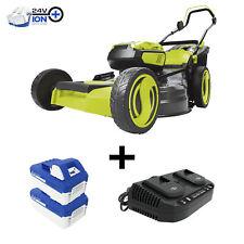 Sun Joe 48-Volt Cordless Lawn Mower | 21-inch | 2 x 4.0-Ah Batteries & Charger
