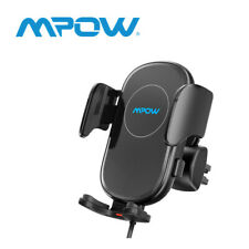 Mpow Qi Auto Wireless Charger Handy Halterung Induktions Ladegerät Clamping KFZ