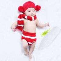 Kids Baby Child Crochet Knit Carrot/Pear/Apple Toy Photography Props Outfit Cute