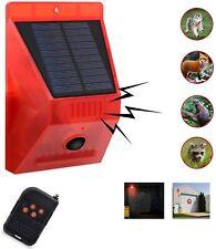 Solar Alarm Lamp 110db Warning Sound 129dB Loud Siren Strobe Light Remote 4 mode