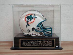 Calvin Johnson Jr. Football Mini Helmet Case W/ A Detroit Lions Nameplate