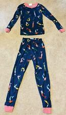 Hanna Andersson Mermaid Blue Pajamas 2 Pc. Soft, Comfy, Girls Size 8 (130 UK)