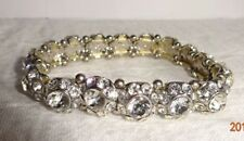 "RHINESTONE STUDDED STRETCH BRACELET 2 1/8"" INSIDE NOT STRETCHED WT 29.24 GMS"