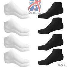 Patternless Ankle-High 4-11 Multipack Socks for Women