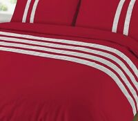 CLEARANCE RED Diamante Luxury Duvet Quilt Cover Set Egyptian 100% Cotton 200TC