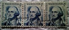 1966 U. S. Scott 1283 George Washington three used cancelled 5 cent stamps off