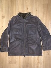 Alfred Dunhill London Leather Shearling Jacket Size 52