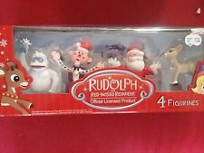 Rudolph Red Nosed Reindeer Toy Cake Toppers 4 Collectible Character Figurines