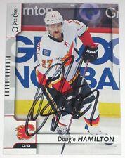 DOUGIE HAMILTON SIGNED 17-18 O-PEE-CHEE CALGARY FLAMES CARD AUTOGRAPH AUTO!