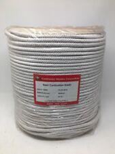 "CWC Cotton Braid Sash Cord Rope Spool - Size #10, 5/16"" x 1200 ft. White, 124640"