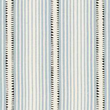 Schumacher Printed 100% Linen Stripe Fabric- Moncorvo / Le Mirage 2.10 yd 176272