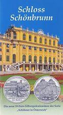 Österreich 10 Euro 2003 Silber Schloss Schönbrunn hgh im Blister