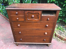 ANTIQUE CEDAR CHEST OF DRAWERS C1880 RESTORATION PROJECT MELB DELIVERY AVAIL