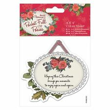 "DO-crafts 4 x 4"" ""CLEAR STAMP-tasca piena di fiorellini-Natale tag per Schede/Crafts"