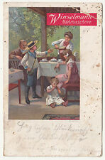 Reklame Ak Winselmann Nähmaschine Eugen Börner Altenberg um 1900/10 ! (A2145
