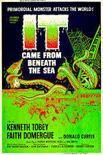 It Came from Beneath the Sea A1 Movie Poster Vintage Quality Canvas Art Print