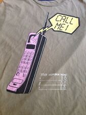 New listing Zara Mad Collective Vintage 80s Cell Phone Call Me Graphic T-Shirt Womens M