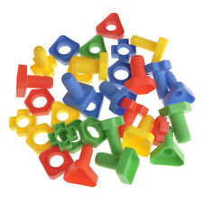 Multi-color Screw Building Blocks Insert Nuts Set Child Kid Educational Toy Gift
