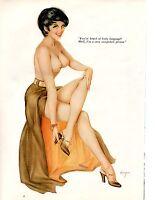 VINTAGE 1960'S ORIGINAL ALBERTO VARGAS GIRL PRINT PIN UP PLAYBOY CENTERFOLD #92