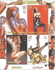 SEXY MODELS ART PIN UP NUDE LADIES GIRLS MNH STAMP SHEETLET