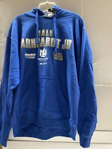 Dale Earnhardt Jr, #88 Nascar Men's Blue Hoodie Size Large