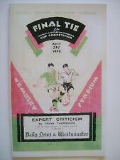 1928 FA Cup final programme,Ticket & free teamsheet Blackburn R v Huddersfield T