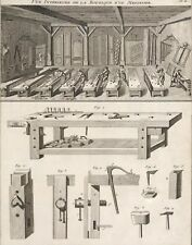 Popular Andre Roubo Woodworking Workshop Bench Poster