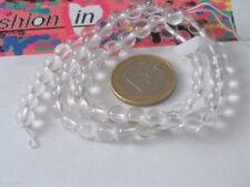 1 filo in cristallo di rocca cabochon diametro 12 mm 33 pietre lungo 40 cm