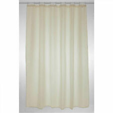 Fabric Bathroom Shower Curtain Plain Cream 180 X 200 Cm Extra Long. HUGE Saving
