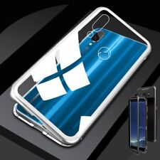 Für Huawei Honor 8X Magnet / Metall Glas Silber / Transparent Tasche Hülle Case