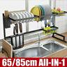 Stainless Steel Sink Drain Rack Kitchen Shelf Dish Cutlery Drying Drainer Holder
