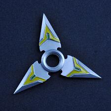 2 PCS Overwatch Genji Shuriken Hand Spinner EDC Metal Fidget Rotate Cosplay Toy