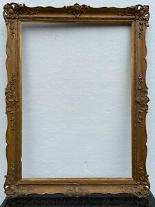 Antique Goldstuckrahmen Baroque Ornamental Rococo Frame Wood Stuck Gold To 1850