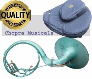 "Sousaphone Colored Green 22"" Bb ""Chopra Make "" 3 V BAG & MOUTH PIECE FREE 01"