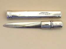 Sampson Mordan & Co-Solid Silver Letter Opener/Fruit Knife & Case. London-1920