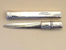 Sampson Mordan & Co-argent massif ouvre-lettre/couteau à fruits & Case. Londres - 1920.