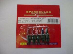 4 Multi Push In Spare Bulbs 7v 0.98w 0.14a (No36)