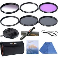 58MM Lens Filter Kit Extra Slim UV CPL ND4 FLD Close Up+4 for Canon Nikon Sony