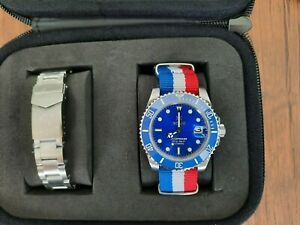 Ikonik Oceandiver Royal Blue 40 mm Automatic w Stainless Steel Bracelet SOLD OUT