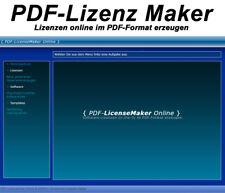 PDF-Lizenz Maker - Lizenzen online im PDF-Format erzeugen - PHP-Script