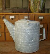 Vintage Rustic Old Galvanized Garden Porch Large Floral Centerpiece Watering Can