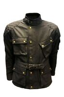 Warrior Classic Motorcycle Waxed Cotton Motorbike Cotton Waxed Waterproof Jacket