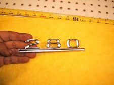Mercedes Late W114 280 Sedan 4 door REAR deck lid metal 1 OEM Emblem,280 W114