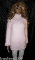 100 % Angora Pullover handgestrickt  Gr. 38 / 42  edel NEU  hand knitted in rosé