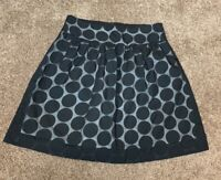MAURICES ABOVE-KNEE BLACK POLKA-DOT FLARE STRETCH SKIRT - SIZE: SMALL