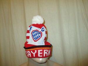 """München Original FC BAYERN Bommel Mütze 80iger Jahre """"FC BAYERN Wappen"""" Neu"""